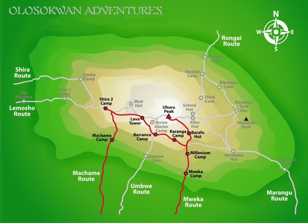 Machame-Route.Olosokwan Adventures